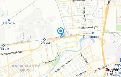 Местоположение на карте пункта техосмотра по адресу г Краснодар, ул Уральская, д 184/2