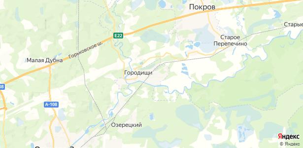 Городищи на карте