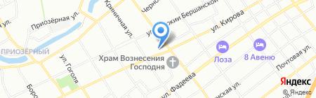 Магнолия на карте Краснодара
