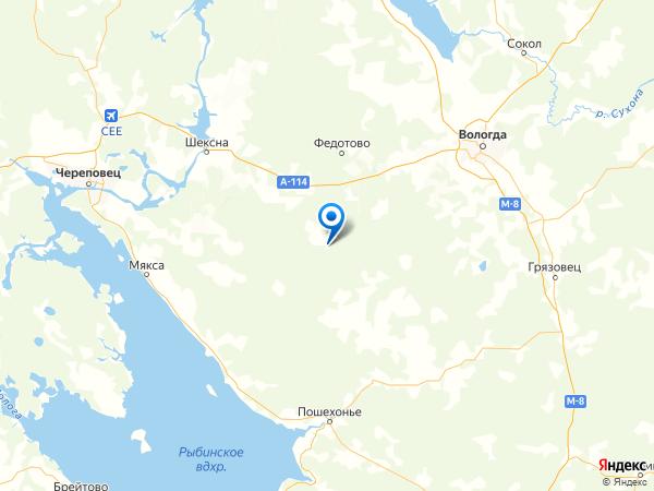 поселок Аксеново на карте