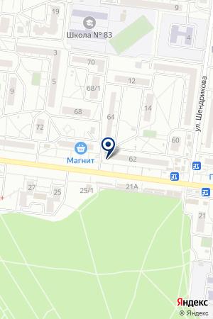 Почтовое отделение связи №86 на карте Воронежа