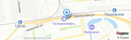 Продовольственный магазин на Уральской на карте Краснодара