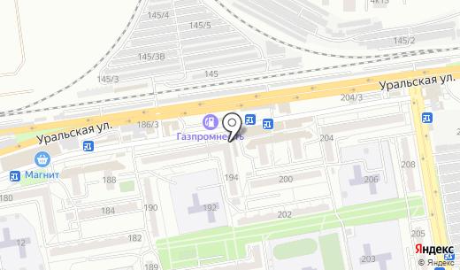Продовольственный магазин на Уральской. Схема проезда в Краснодаре