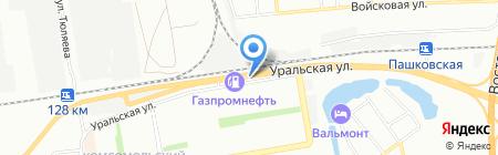 Жасмин на карте Краснодара