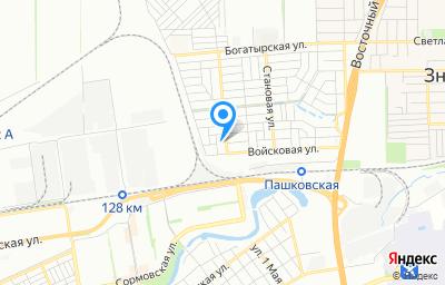 Местоположение на карте пункта техосмотра по адресу г Краснодар, ул Семеновская, д 9