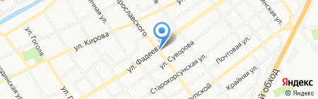 Блисс на карте Краснодара