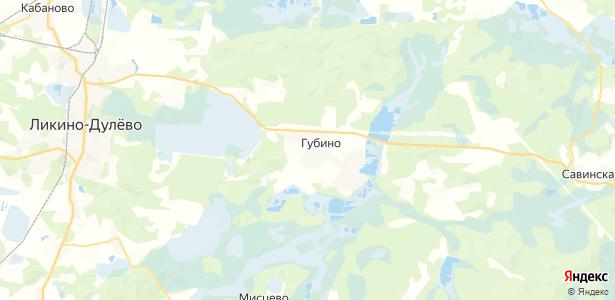 Губино на карте