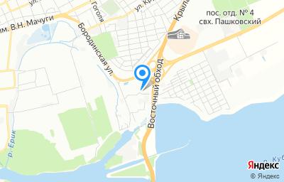 Местоположение на карте пункта техосмотра по адресу г Краснодар, тер Пашковский жилой массив, ул Станичная, д 7