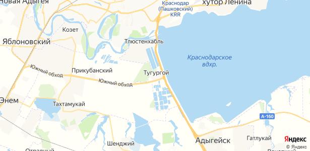 Тугургой на карте