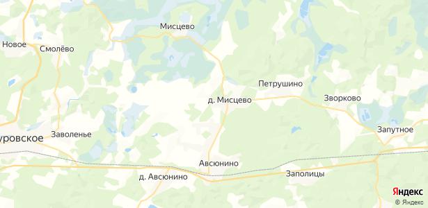 Мисцево на карте