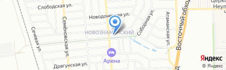 Фарватер на карте Краснодара