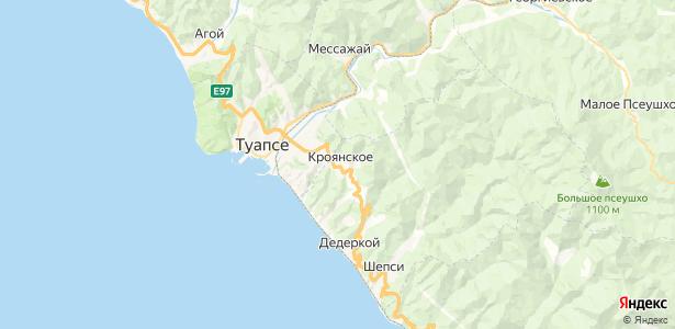 Кроянское на карте