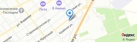 Вар-Бор на карте Краснодара