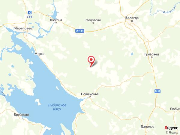 деревня Репино на карте