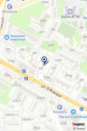 Почтовое отделение №20 на карте Воронежа