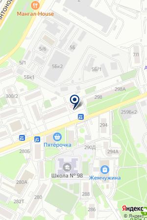 Стоматологическая поликлиника №6 на карте Воронежа