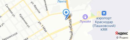 Тенториум на карте Краснодара