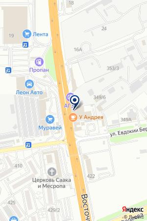 Шиномонтажная мастерская на Восточном обходе на карте Краснодара