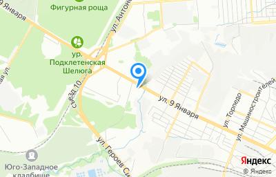 Местоположение на карте пункта техосмотра по адресу г Воронеж, ул 9 Января, д 221Д