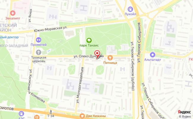 Карта расположения пункта доставки Халва в городе Воронеж