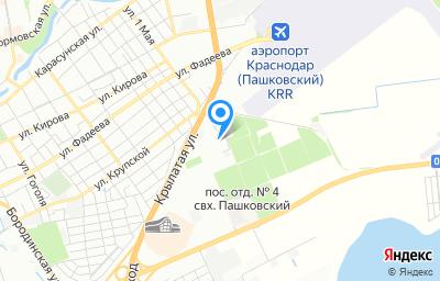 Местоположение на карте пункта техосмотра по адресу г Краснодар, х Ленина, п/о 37