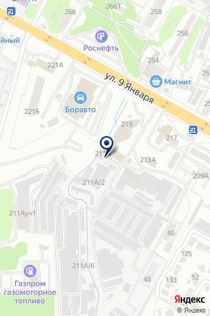 Топаз-15 на карте Воронежа