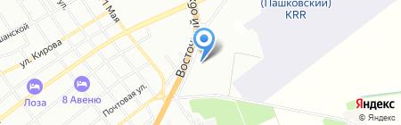 Орбита-NISSAN на карте Краснодара