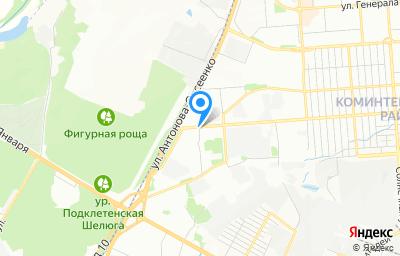 Местоположение на карте пункта техосмотра по адресу г Воронеж, ул 45 стрелковой дивизии, д 271Г