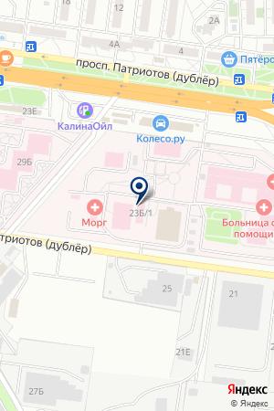 Скорая медицинская помощь на карте Воронежа