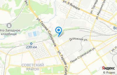 Местоположение на карте пункта техосмотра по адресу г Воронеж, ул Дорожная, д 38