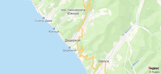 Частный сектор Дедеркоя - объекты на карте