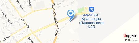 Мега-Мойка на карте Краснодара