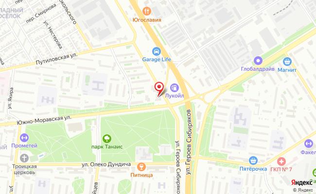 Карта расположения пункта доставки Пункт выдачи в городе Воронеж