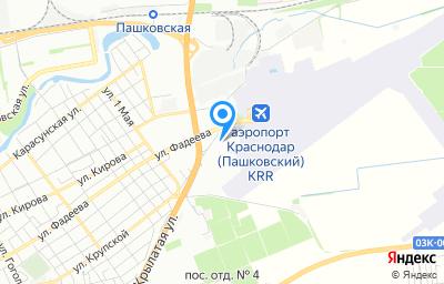 Местоположение на карте пункта техосмотра по адресу г Краснодар, ул Аэропортовская, д 8