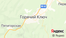 Гостиницы города Горячий Ключ на карте