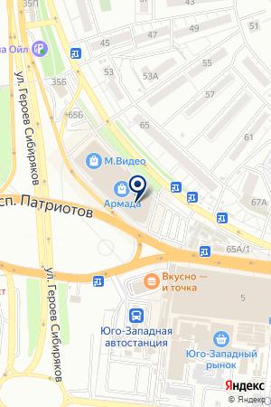 Ташир пицца на карте Воронежа