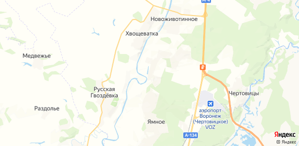 Медовка на карте