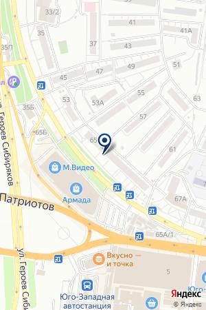 Виоларт на карте Воронежа