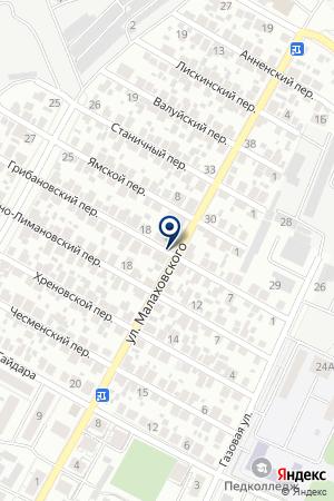 Едокъ на карте Воронежа