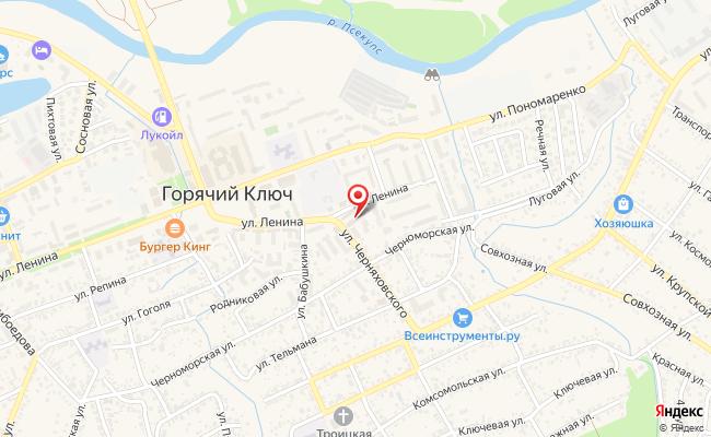 Карта расположения пункта доставки Пункт выдачи в городе Горячий Ключ