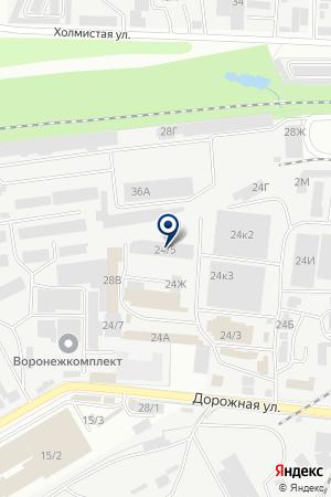 ТФ РЫБНЫЙ ДВОР на карте Воронежа