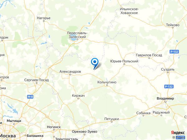 поселок Бутырки на карте
