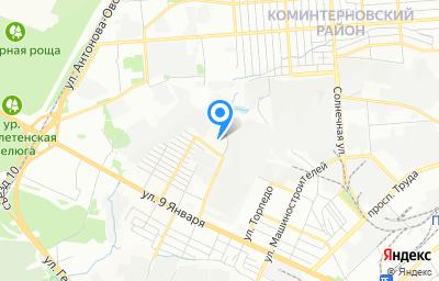 Местоположение на карте пункта техосмотра по адресу г Воронеж, ул Краснодонская, д 31