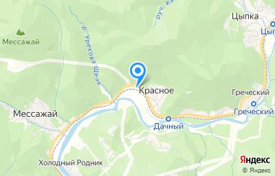 Местоположение на карте пункта техосмотра по адресу Краснодарский край, Туапсинский р-н, с Красное, ул Майкопская, д 26