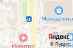 Схема проезда до компании Top Jeans в Воронеже