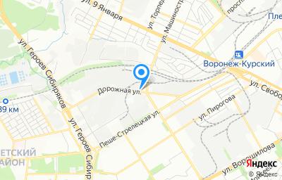 Местоположение на карте пункта техосмотра по адресу г Воронеж, ул Дорожная, д 18