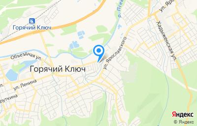 Местоположение на карте пункта техосмотра по адресу Краснодарский край, г Горячий Ключ, ул Пономаренко, д 26
