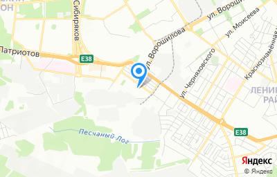 Местоположение на карте пункта техосмотра по адресу г Воронеж, ул Кривошеина, д 13