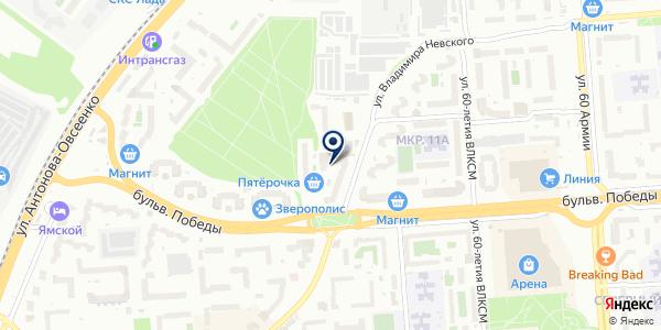 Медицинский центр современной кардиологии на карте Воронеже