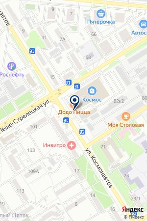 Компания юридической помощи на карте Воронежа